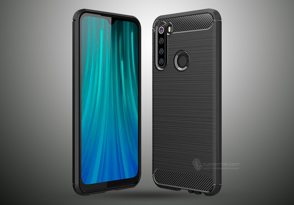 XIAOMI REDMI NOTE 8 FORRO FIBRA DE CARBONO ANTI-SHOCK