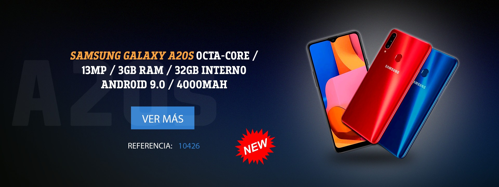 Samsung Galaxy A20s OctaCore 13MP 3GB RAM 32GB Interno Android 9.0 4000mAh